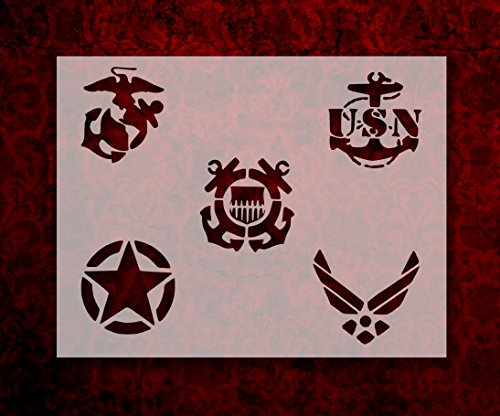 All Gave Some Some Gave All Soldier Military Amy Air Force Navy Marines Custom Stencil FAST FREE SHIPPING