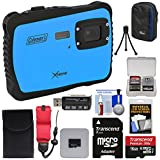 Coleman Xtreme C6WP HD Shock & Waterproof Digital Camera (Blue) with 16GB Card + Reader + Case + Kit