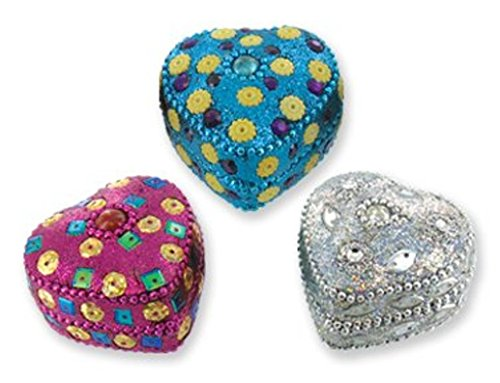 Fun Heart Shaped Trinket Boxes   Great For Group Events   3 Pack Assorted