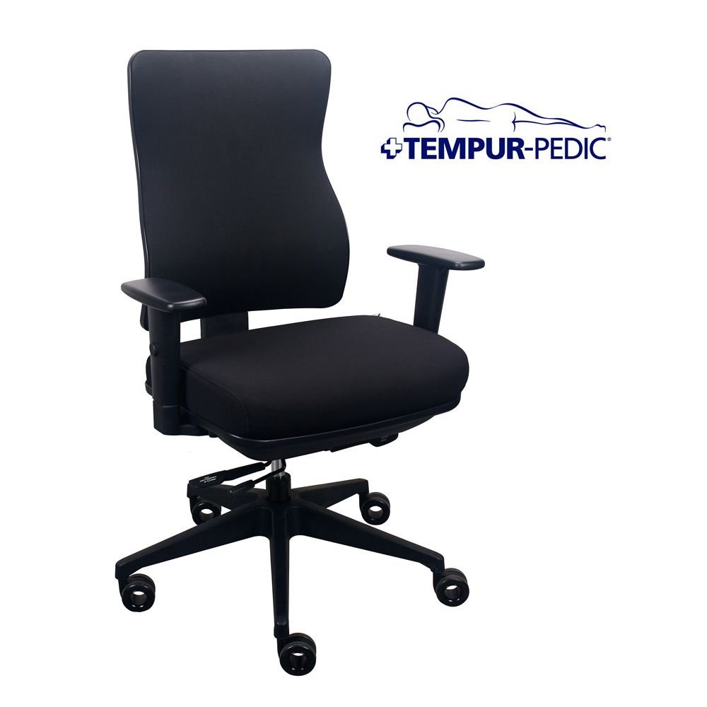 Comfort Seating Tempur-Pedic174. Task Chair in Fabric Dimensions: 26.5''W x 22.8-31.3''D x 39.7-45''H Seat Dimensions: 19.75''Wx16.5-18.5''D Eclipse Fabric Seat & Back/Black Frame by TempurPedic