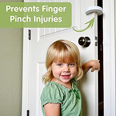 Wittle Finger Pinch Guard - 2pk. Child Proofing Doors Made Easy with Soft Yet Durable Foam Door Stopper. Prevents Finger Pinch Injuries, Slamming Doors, and Baby or Pet from Getting Locked in Room!