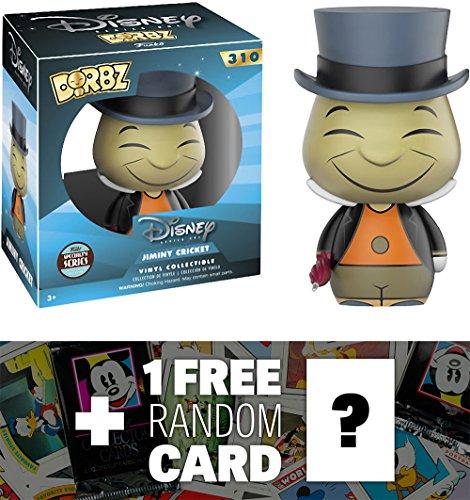 Jiminy Cricket (Specialty Series): Funko Dorbz x Pinocchio Vinyl Figure + 1 FREE Classic Disney Trading Card Bundle (11789)