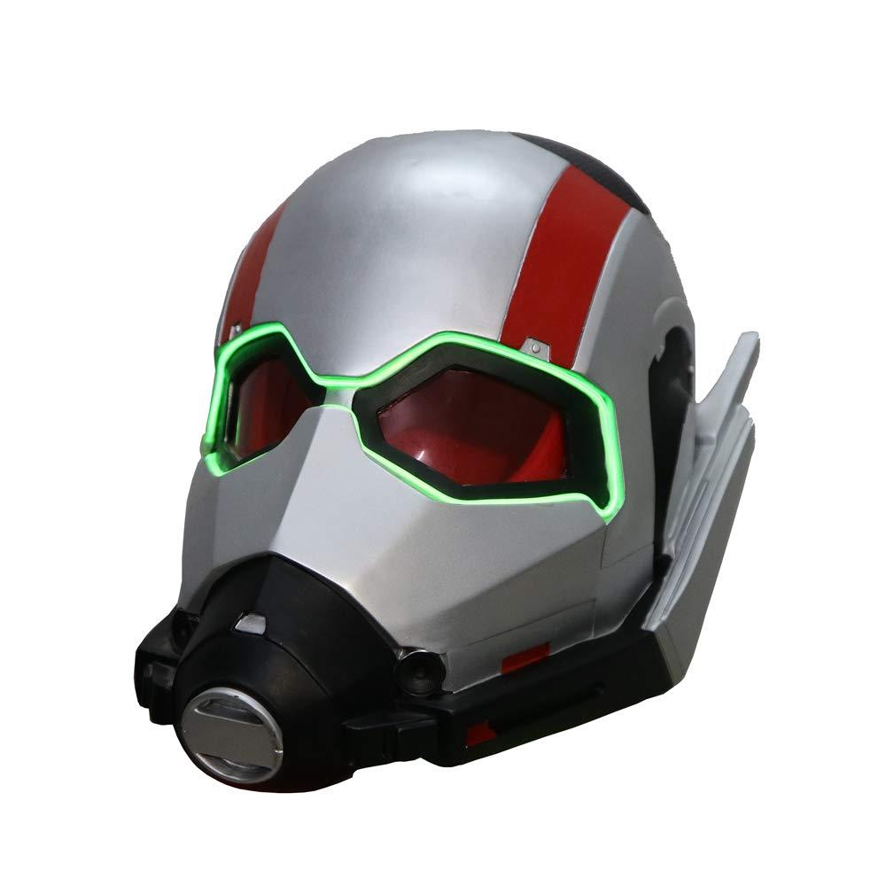 Lucky Lian LED Light Up Ant Man Helmet Replica Mask PVC Full Head Cosplay Costume for Kids (Antmanmask)