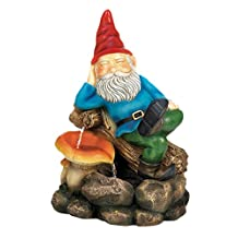 Home Decor Relaxing Gnome Water Fountain