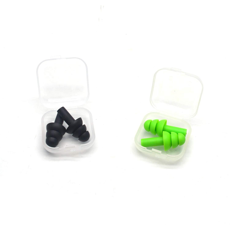 Eco-Friendly Reusable Earplugs for Sleeping,Orange Antrader Noise Cancelling Ear Plugs