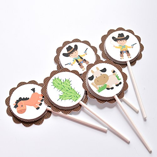 Amazon 12 Cowboy Themed Cake Toppers Cowboy Baby Shower Cake