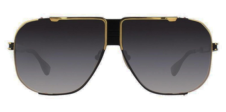 c03705d3a281 Dita Cascais Black Shiny Gold brushed frame with Black lens Sunglasses DRX  2065  Amazon.co.uk  Clothing