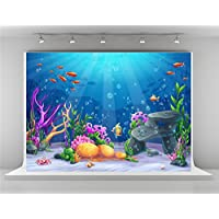 Kate 7x5ft Blue Under the Sea Photo Studio Background for Photography Colorful Fish Backdrop Fairy Tale Backdrops Booth