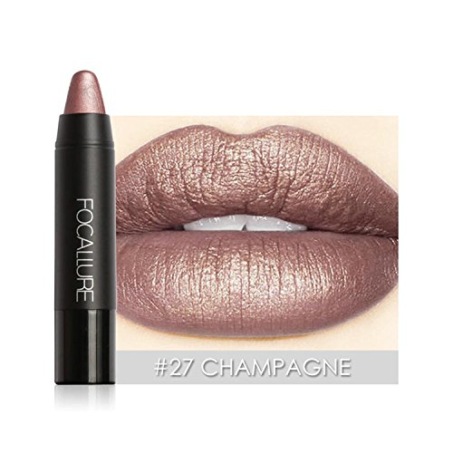 Matte Lipsticks Metal Color Waterproof Long Lasting Soft Moisturizing 8 Colors Makeup Cosmetic Lip Cream Lipstick