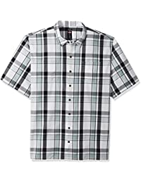 Men's Big and Tall Yarn Dyed Short Sleeve Camp Shirt