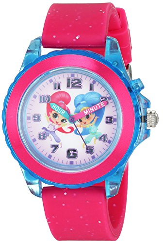 Nickelodeon Girls' Analog-Quartz Watch with Rubber Strap, Pink, 0.6 (Model: SNS9000)