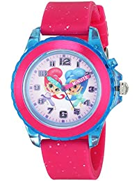 Girl's Quartz Plastic and Rubber Casual Watch, Color:Pink (Model: SNS9000)