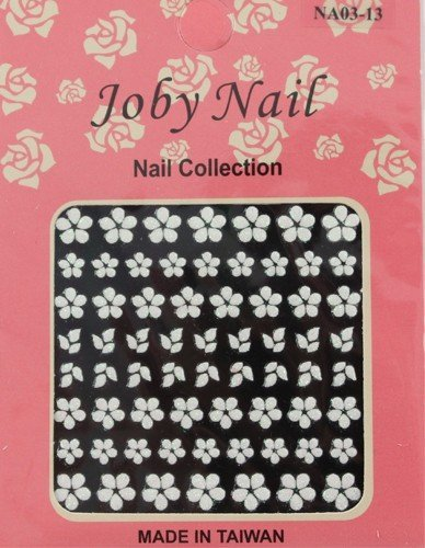 - Nail Sticker/Nail Art - 3D Collection - White Flowers