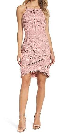 Amazon.com  Adelyn Rae Women s Sabina Woven Lace Sheath Dress Lilac Pink  Dress  Clothing b1bec43ea5