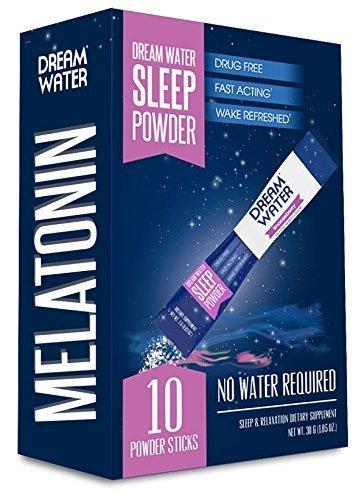 Dream Water Sleep Powder, Natural Sleep Aid, GABA, MELATONIN, 5-HTP