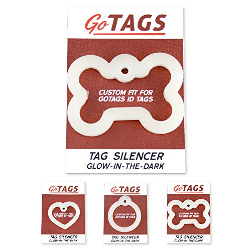 GoTags Dog Tag Silencer, Glow in The Dark, Silence Noisy Pet Tags
