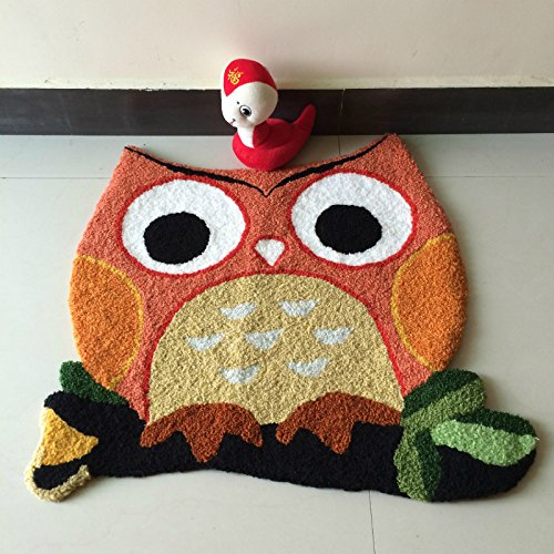 Cute Owl Rugs And Carpets Cartoon Kids Room Door Mat Size