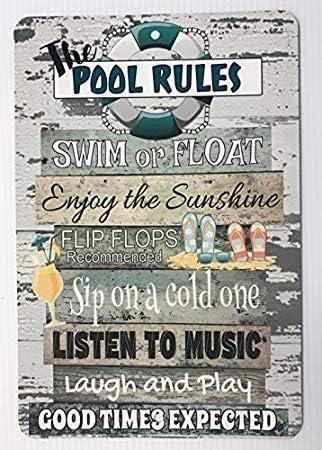 Lustige Metallschilder Pool Rules Swimming Pool Decor Garage Home Yard
