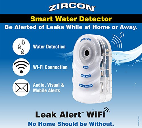 Zircon Leak Alert WiFi- 2 Pack - Smart Electronic Water Detector Alarm with Email, Audio and Visual Alerts - Battery Included by Zircon (Image #5)