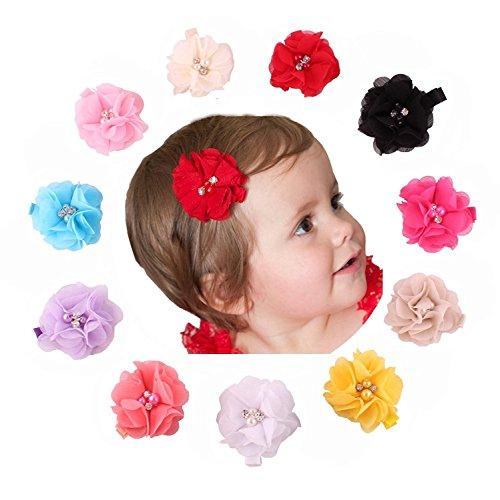 15-20 PCS Baby Girl Chiffon Flowers Line..