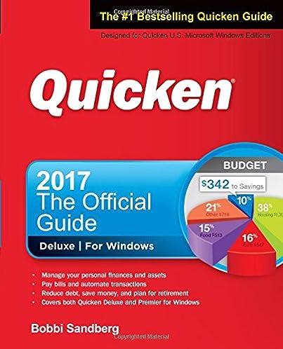 quicken 2017 the official guide bobbi sandberg 9781259862014 rh amazon com quicken user guide pdf quicken user guide 2017