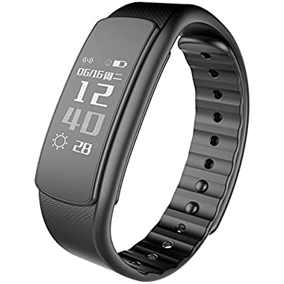 Lzth Heart Rate And Fitness Wristband Smart Bracelet Health Sleep Monitor Pedometer Calorie Counter For IOS And Android color Black Estimated Price £61.68 -
