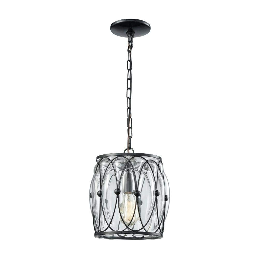 Elk lighting 14520 1 ceiling pendant fixtures 11 x 9 x 9 black amazon com