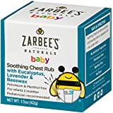Zarbee's Naturals Baby Soothing Chest Rub with Eucalyptus, Lavender & Beeswax, 1.5 Oz