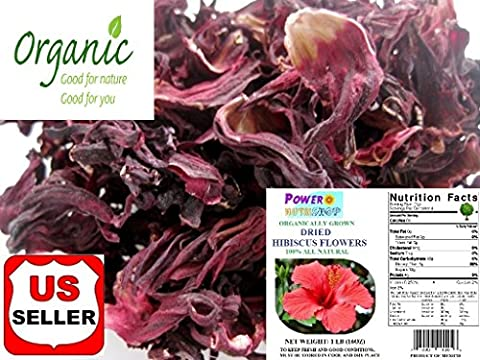 2 LB (32 oz) ALL NATURAL GROWN ORGANICALLY Premium Dried Rough Cut Hibiscus Flowers Tea,Jaimaica Tea,Hibiscus Tea,UNBEATABLE QUALITY AT THIS - Dried Flower Shop