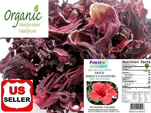 GROWN ORGANICALLY Premium Dried Hibiscus Tea,Hibiscus Flowers Tea,Jaimaica Tea,Fresh and best quality guarantee,UNBEATABLE QUALITY AT THIS PRICE!! (Rough Cut Hibiscus Tea, 8 oz) (Dried Flowers Hibiscus Organic)