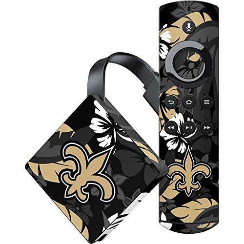 Skinit New Orleans Saints Amazon Fire TV Skin - New Orleans Saints Tropical Print   NFL Skin by Skinit