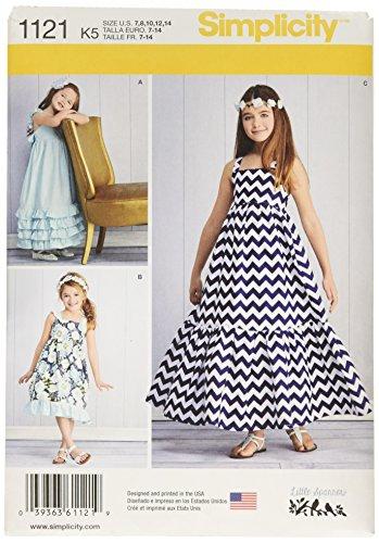 A Simplicity Creative Patterns New Look 6297 Girls Knit Dress 8-10-12-14-16