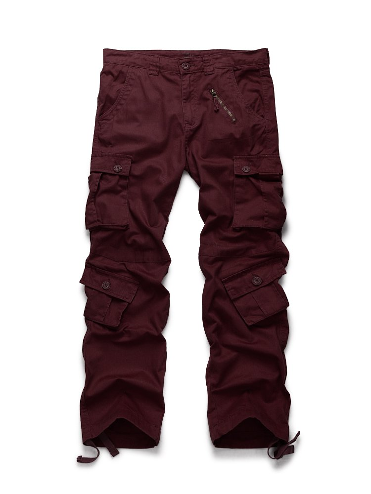 OCHENTA Men's Cargo Regular Trouser Army Combat Work Trouser Workwear Pants with 8 Pocket #3357