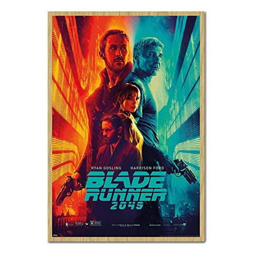 Blade Runner 2049 Fire And Ice Poster Magnetic Notice Board Beech Framed - 96.5 x 66 cms (Approx 38 x 26 inches) hot sale