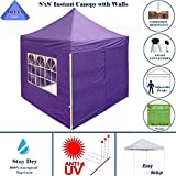 8'x8′ Pop up 4 Wall Canopy Party Tent Gazebo Ez Purple – By DELTA Canopies