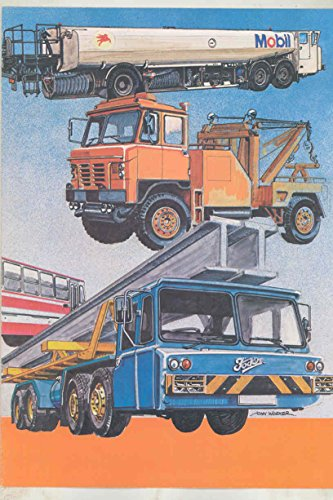 1975 ? Foden Snowplow Wrecker Construction Dump Government Truck Brochure from Foden