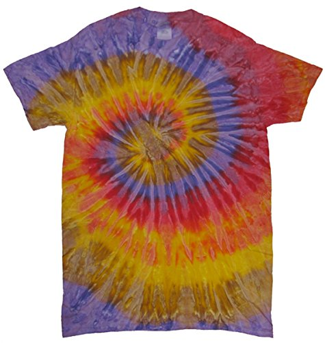 Tie Dyes Men's Tie Dyed Performance T-Shirt H1000-swirl-festival-large (Tie Dyed Shirt)
