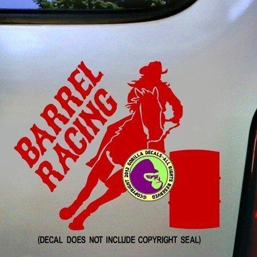 BARREL RACING Rodeo Racer Horse Rider Vinyl Decal Sticker ()