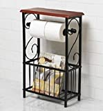 derouleur papier toilette avec porte revues 105483 cuisine maison. Black Bedroom Furniture Sets. Home Design Ideas