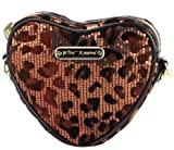 Betsey Johnson Heart Messenger Bag – Bronze Leopard, Bags Central