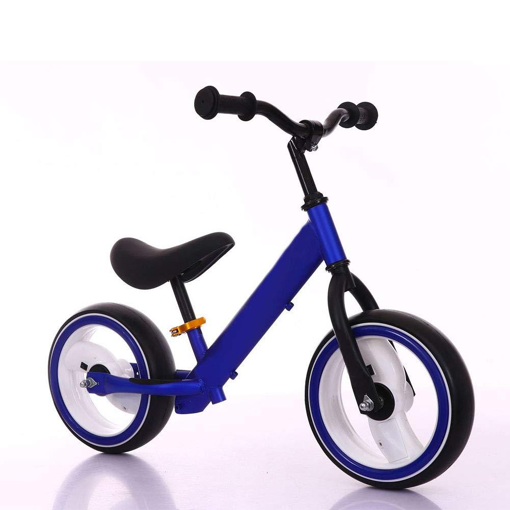 LIWORD Rueda De Destello Balance para Niños Coche para Bebé Sin Pedal Wwo-Wheeled Scooter 2-6 Años para Niños De 12 Pulgadas Bicicleta para Cuatro Colores Opcional,Blue