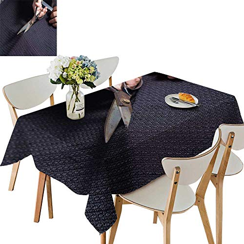 UHOO2018 Square/Rectangle Polyesters Tablecloth Scissors cutt Fabri Wedding Party,50 x109inch -
