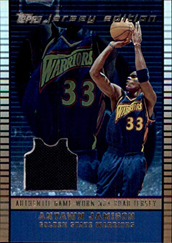 2002-03 Topps Jersey Edition Copper #JEAJ Antawn Jamison GAME USED JERSEY SERIAL #46/299 NORTH CAROLINA TAR HEELS GOLDEN STATE WARRIORS ()