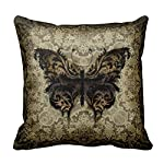 Damuyas Steampunk Rococo Butterfly Pillowcase Sofa Decor Throw Pillow Case Cushion Cover (1#) 5