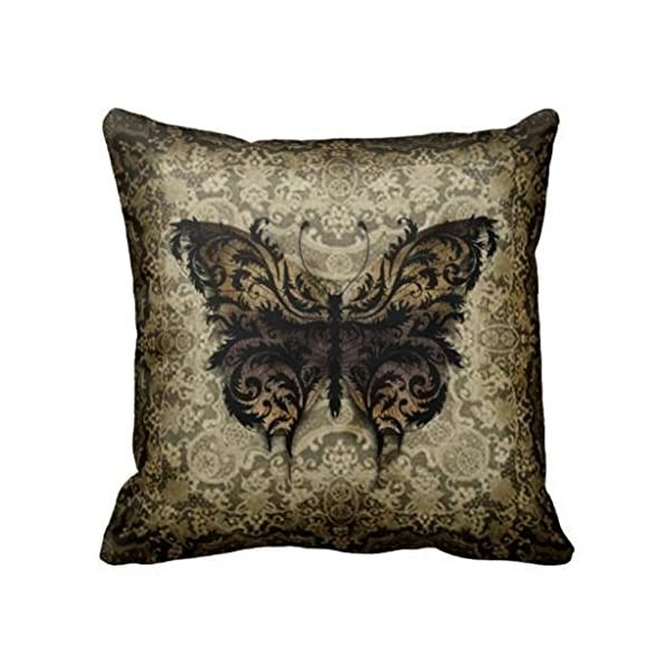 Damuyas Steampunk Rococo Butterfly Pillowcase Sofa Decor Throw Pillow Case Cushion Cover (1#) 3