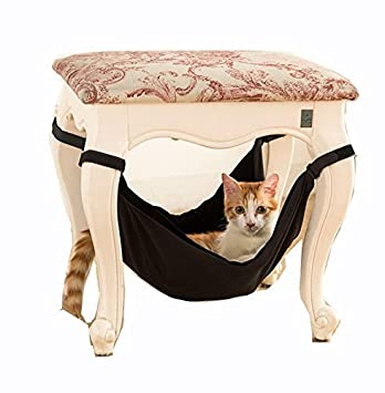owikar cat hammock velvet indoor adjustable under chairs table cat hanging bed soft crib crate cage amazon     owikar cat hammock velvet indoor adjustable under      rh   amazon