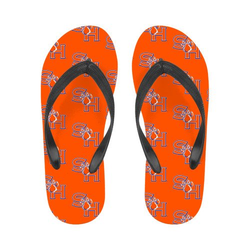 Shsu Dames Full Color Flip Flops Sh Paw Officieel Logo