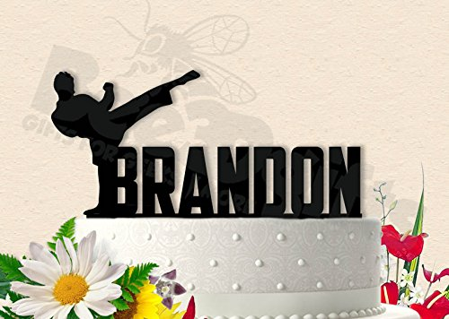Amazon Martial Arts Birthday With Name Cake Topper Handmade