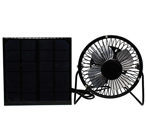 3W Solar Panel Powered USB Mini Fan Greenhouse Pet House RV Ventilator (Greenhouses Sunshine)