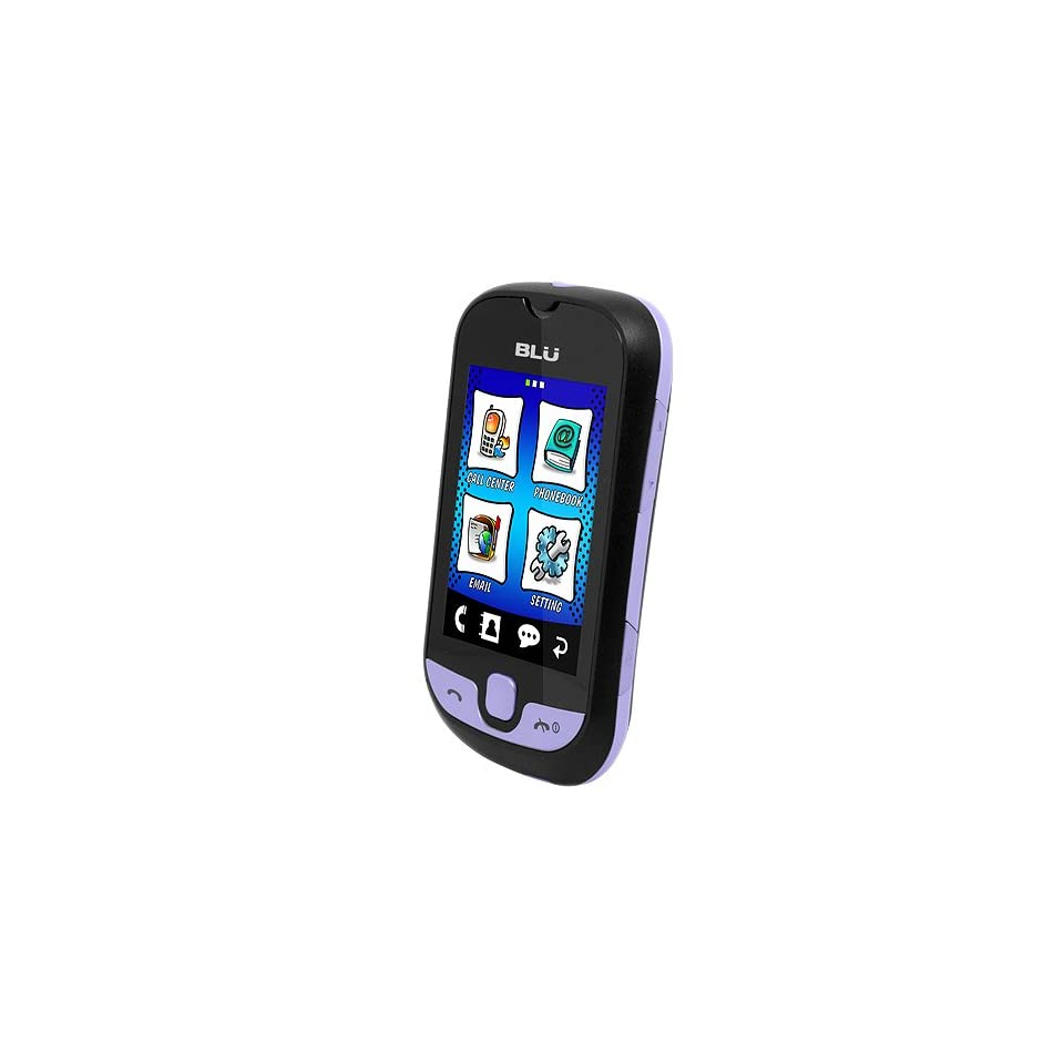 BLU S210 Deejay Touch   Unlocked Phone   US Warranty   Black/Violet